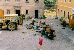 Bagger Innenhof